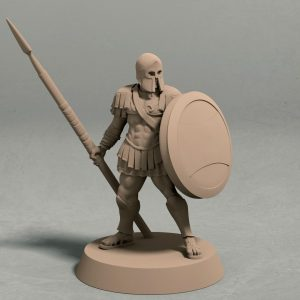 Realm of Eros soldier with spear pose 2 front